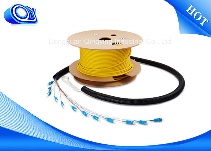 LC Connector Single Mode / Outdoor Armored Fiber Optic Cable / 12 Strand Multimode Fiber Optic Cable