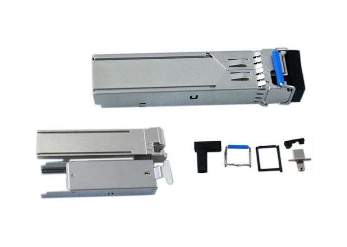 Anodizing Fiber Optic Components , Stainless Steel 304 SFP Case And Jacket 1.25G 2.5G 10G 40G 100G