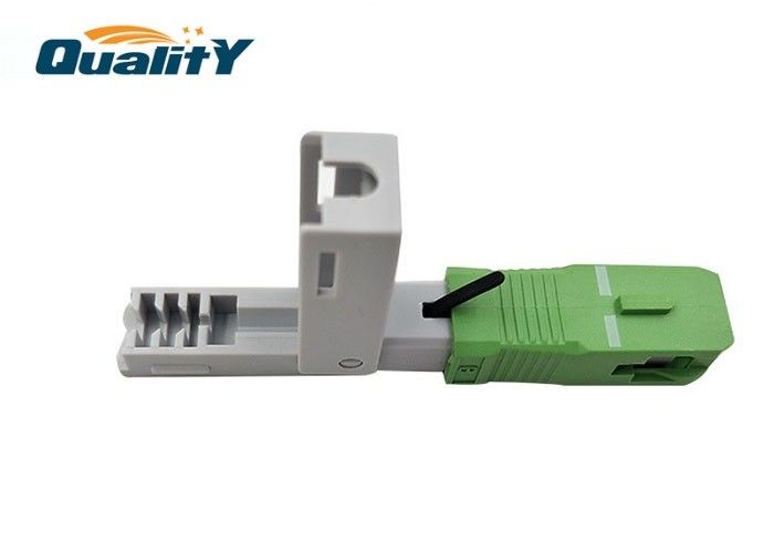 Customized Drop Cable Sc Apc Connector Green Low IL  Convenient For Field Installation